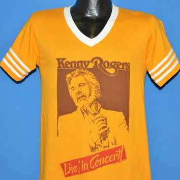 612ac7a9 80s Kenny Rogers Live! In Concert Tour 1985 t-shirt Small