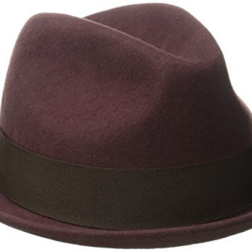 Brixton Men's Gain Fedora, Maroon, Medium