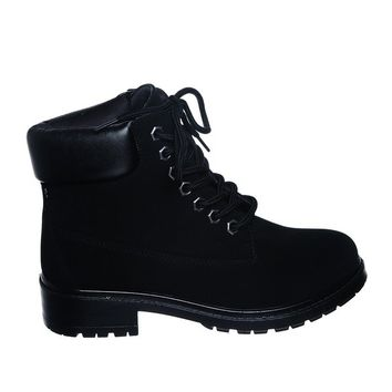 New!! Lace up Ankle Boots (9, blknubT) [Apparel]