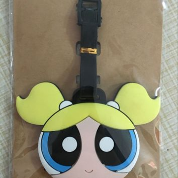 1pcs Powerpuff Girls  PVC Bag Pendant Travel Name Tag Novelty toys