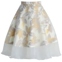 Dreamy Frills Organza A-line Skirt  Yellow