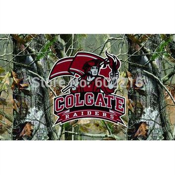 Colgate Raiders Camo College Large Outdoor Flag 3ft x 5ft Football Hockey Baseball USA Flag