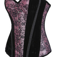Multi Color Floral Lace Accent Corset
