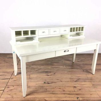 Contemporary White Wood Writing Desk