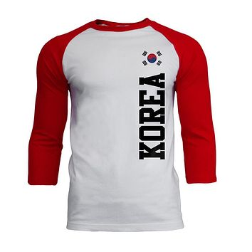World Cup Korea Mens Soft Raglan T Shirt