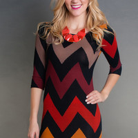 Fall for Chevron Dress
