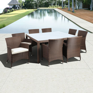 2017 newest cheap resin rattan modern restaurant dining tables and chairs