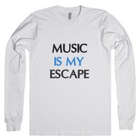 Music-Unisex White T-Shirt