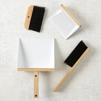 Dustpan + Brush Set - White