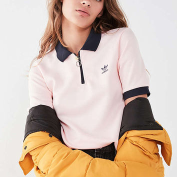 adidas Originals Osaka Zip Polo Shirt | Urban Outfitters