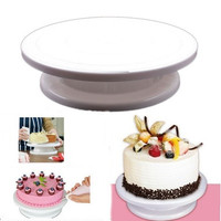 Cake Tools Revolving Cake Sugar Craft Turntable, Cake Swivel Plate, Decoration Stand Platform Turntable Baking Tools 179-07-00182 (Size: 0, Color: White)