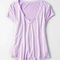 AE Soft & Sexy V-Neck T-Shirt, Purple Wash