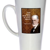 Sigmund Freud - Famous Scientists Series Coffee or Tea Mug, Latte Size
