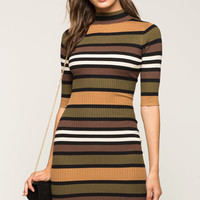 Fall Forward Stripe Sweater Dress