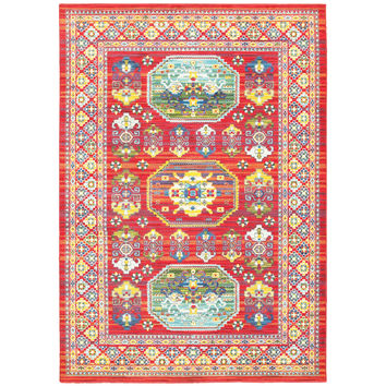 Oriental Weavers Joli 003R4 Red/ Multi Oriental Area Rug