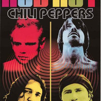 Red Hot Chili Peppers Pop Art Poster 24x36