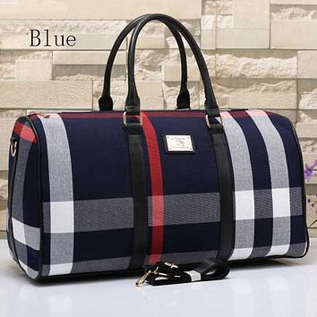 Burberry Women Travel Bag Leather Tote Handbag Shoulder Bag