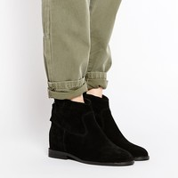 ASOS RED HORN Suede Western Concealed Wedge Ankle Boots at asos.com