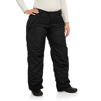 Iceburg Women's Insulated Pull-On Ski Pants, Black, 4X
