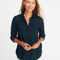 Classic Flannel Shirt for Women |old-navy