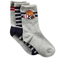 Class Club All Sports 3-Pack Crew Socks - Grey S