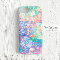 Pastel iPhone 4 case -  Abstract iPhone 4s case, hipster iPhone 5 case, High quality 3D printing, colorful, vivid - pastel bubbles (c33)
