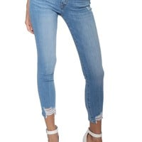 Flying Monkey Mid Rise Crop Skinny Jeans