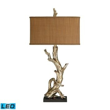 Driftwood LED Table Lamp in Silver Leaf Silver Leaf