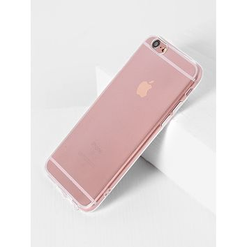 PHONE ACCESSORIES Clear Simple iPhone Case
