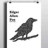 Edgar Allan Poe, The Raven - Printable Poster - Digital Art - Download and Print