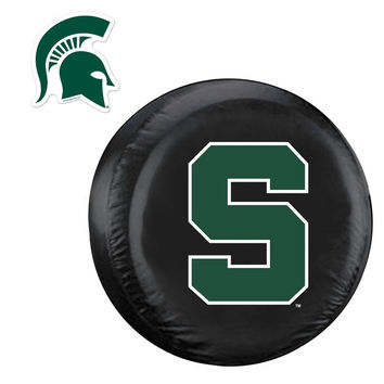 Michigan State Spartans NCAA Spare Tire Cover and Grille Logo Set (Regular)