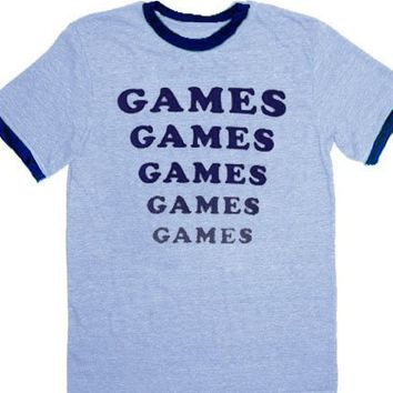 Amusement Park Games Games Games Light Blue T-shirt
