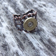 Rustic Filigree Bullet Casing Adjustable Ring for the Hunting & Firearms Lover