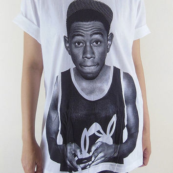 Tyler T-Shirt -- The Creator Hip Hop Rap Rapper Rock Tyler Shirt Unisex T-Shirt Women T-Shirt Men T-Shirt Short Sleeve White T-Shirt Size XL