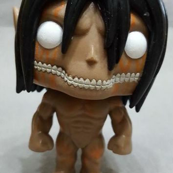 Cool Attack on Titan BIG HEAD NO BOX ORIGINAL Animation  EREN JAEGER ( FORM) #22 Hot Topic Exclusive Vinyl Figure  Action AT_90_11