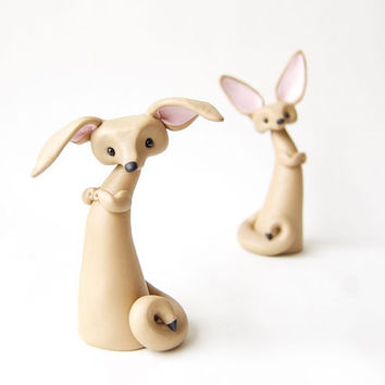 Fennec Fox Figurine - Ears Down by Bonjour Poupette