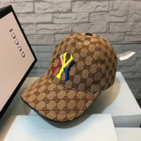 GUCCI New York Women Men Embroidered Hat Baseball Cap Hat