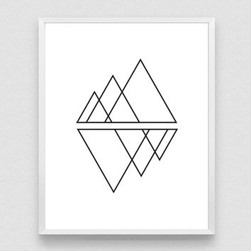 Geometric Print, Polygon Art Print, Scandinavian Print, Modern Print, Simple Print, Geometric Artwork,  Abstract Art, Trending art