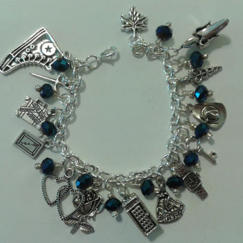 Doctor Who and Companions Charm Bracelet by christinenorris