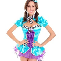MOONIGHT Women Adult Alice In Wonderland Costume Carnival Hot Fancy Dress Halloween Sexy Costumes Cosplay For Women Girl