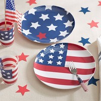 4th of July Plates & Tumblers