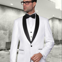 Men's Custom Made White Tuxedos Traje De Hombre Suit