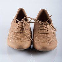 Super Stitched Oxfords - Camel from Casual & Day at Lucky 21 Lucky 21