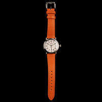 UNIONMADE - Shinola - The Runwell 36mm with Pearlized White Face and Orange Leather Strap