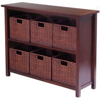 Milan 7pc Storage Shelf with Baskets; One Cabinet and 6  small Baskets; 3 cartons
