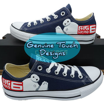 Custom Converse, Big Hero 6, Baymax, fanart shoes,  Custom Chucks, painted shoes, personalized converse low tops