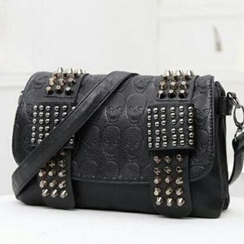 Leather Studded and Skull Purse