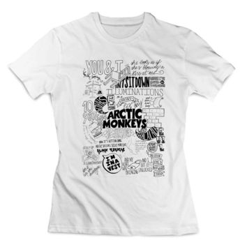 arctic monkeys lyrics collage Clothing T shirt Women