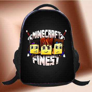 Minecraft Finest Logo - SchoolBags.