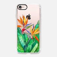Bird of Paradise Flowers on transparent iPhone 7 Case by Micklyn Le Feuvre | Casetify